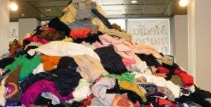 mountain of clothes